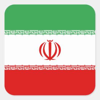 Iran/Iranian/Irani Flag Square Sticker