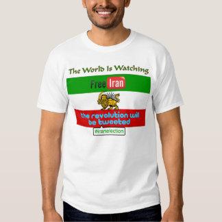 Irán libre: Camiseta social de los medios del Camisas