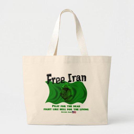 Irán libre, elecciones políticas 2009 de los #Iran Bolsa Tela Grande