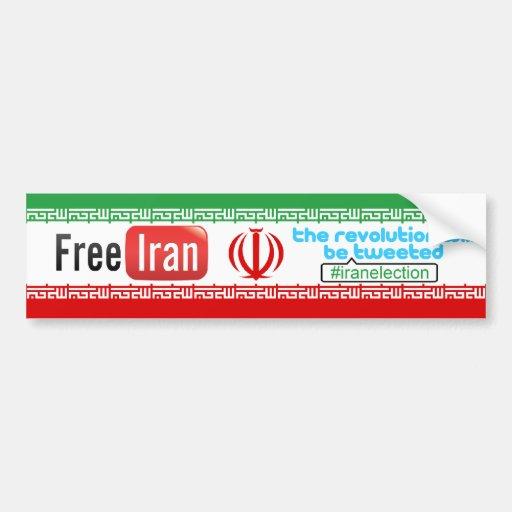 Irán libre - la revolución pió pegatina para el pa pegatina para auto