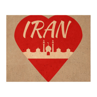 Iran love Iran Cork Paper Print
