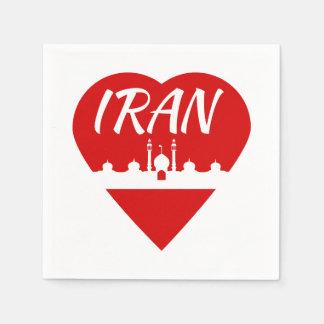 Iran love Iran Standard Cocktail Napkin