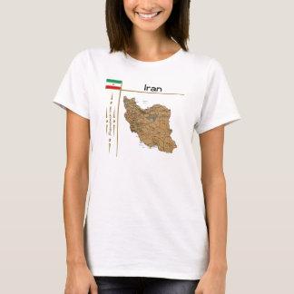 Iran Map + Flag + Title T-Shirt