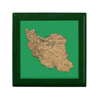 Iran Map Gift Box