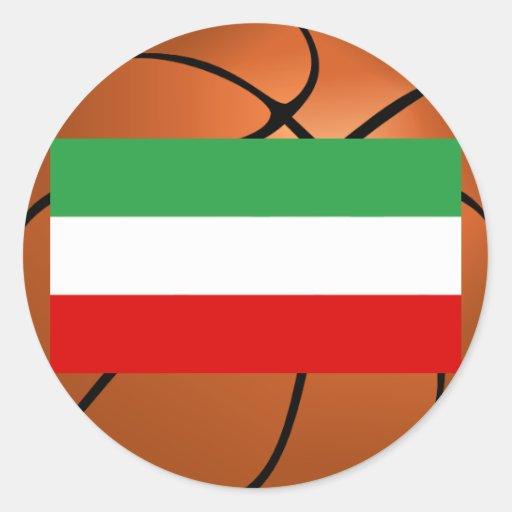 Iran National Basketball Team Round Stickers