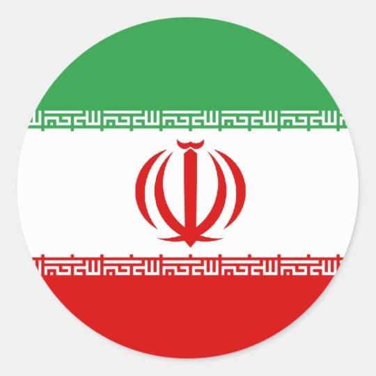 Irán Pegatina Redonda