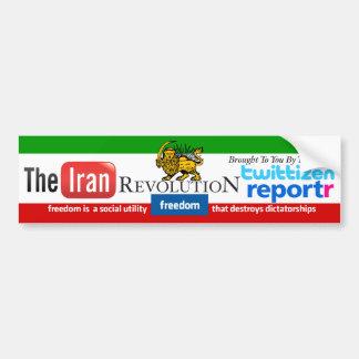 Iran Revolution Social Media Parody Bumper Sticker