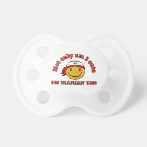 Iran smiley flag designs pacifiers