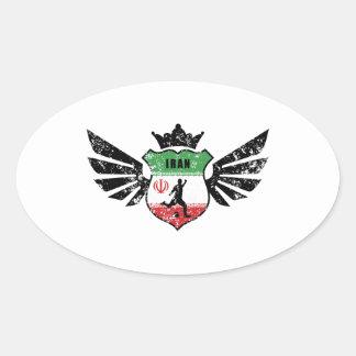 Iran soccer oval sticker
