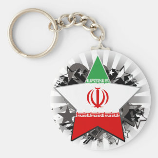 Iran Star Keychain