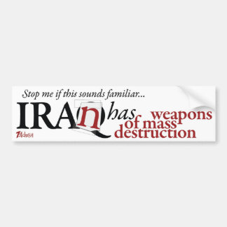 Irán tiene WMD Pegatina Para Auto