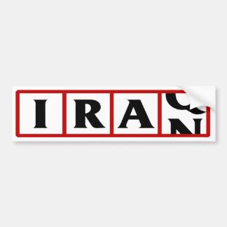 Iran to Iraq Car Bumper Sticker