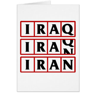 Iran to Iraq Greeting Cards