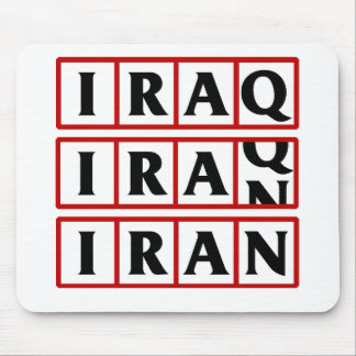 Iran to Iraq Mouse Pad
