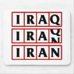 Iran to Iraq Mouse Pads