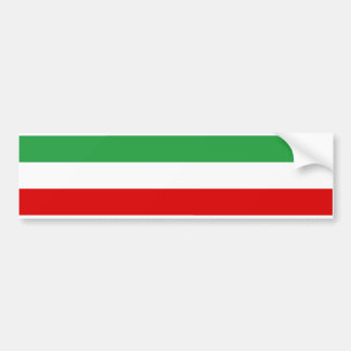 Iran Tricolor Stripe Car Bumper Sticker