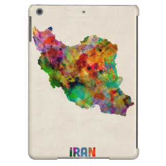 Iran Watercolor Map iPad Air Case