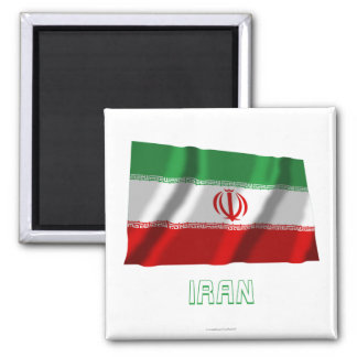Iran Waving Flag with Name Magnet