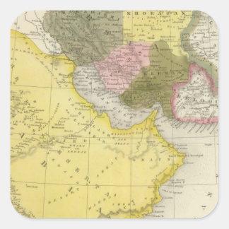 Irán y la Arabia Saudita Pegatina Cuadrada