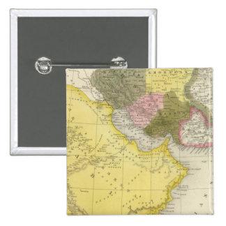 Irán y la Arabia Saudita Pin Cuadrado