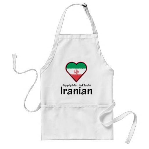 Iraní feliz casado delantal