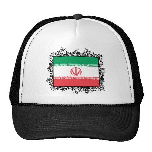Iraní feliz casado gorros bordados
