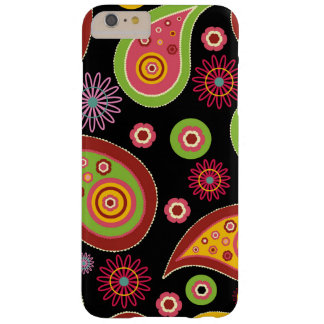 Iraní oriental Paisley - rojo amarillo verde Funda De iPhone 6 Plus Barely There