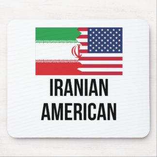 Iranian American Flag Mouse Pad