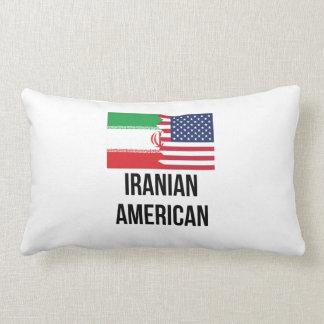 Iranian American Flag Pillow