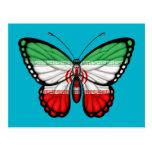 Iranian Butterfly Flag Postcard