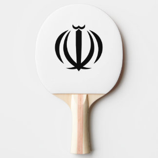 Iranian emblem ping pong paddle