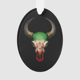Iranian Flag Bull Skull Ornament