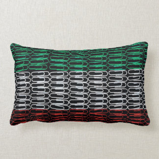 Iranian Flag of Paperclips Pillow