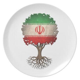 Iranian Flag Tree of Life Customizable Plate