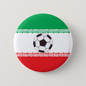 Iranian Flag with soccer ball button