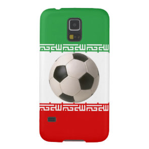 Iranian Flag with soccer ball Case For Galaxy S5