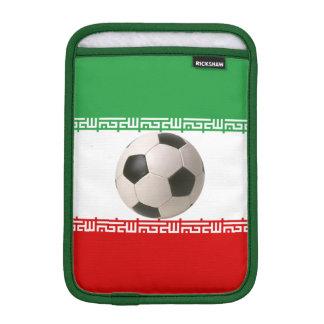 Iranian Flag with soccer ball iPad Mini Sleeves