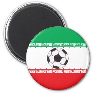 Iranian Flag with soccer ball magnet