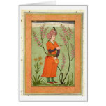 Iranian princely figure holding a cup and flask, c cards