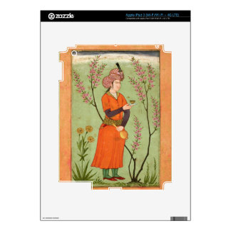 Iranian princely figure holding a cup and flask, c decal for iPad 3