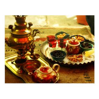 Iranian Tea served from a Samovar Postcard