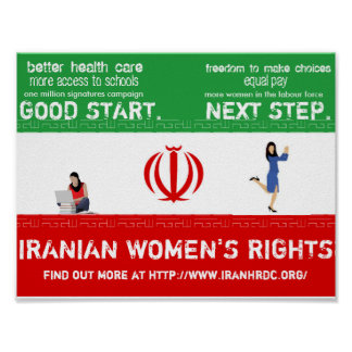 Iranian Women Support Poster