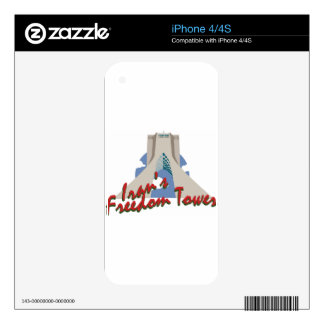 Irans Freedom Tower Decals For iPhone 4S