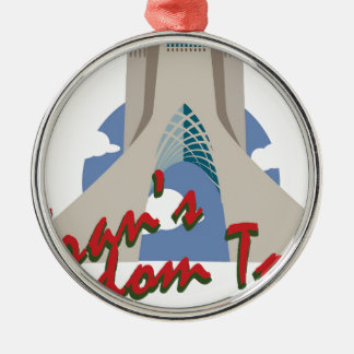 Irans Freedom Tower Metal Ornament