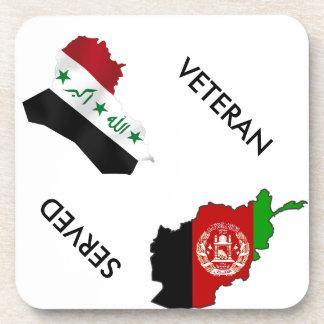 Iraq Afghanistsan Veteran Beverage Coaster