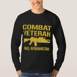 Iraq and Afghanistan Combat Veteran Shirts