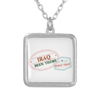 Iraq Been There Done That Silver Plated Necklace
