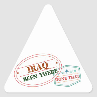 Iraq Been There Done That Triangle Sticker