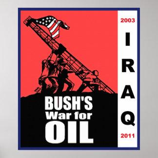 Iraq, Bush's War for Oil Poster