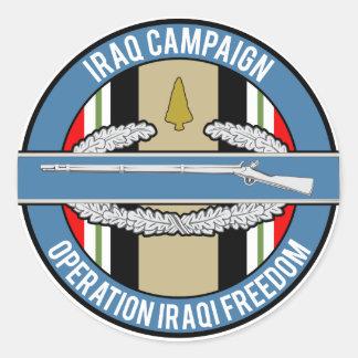 Iraq Campaign CIB Classic Round Sticker